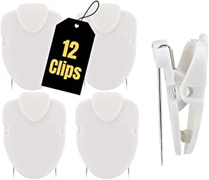 1InTheOffice Cubicle Clips, White, 12/Pack