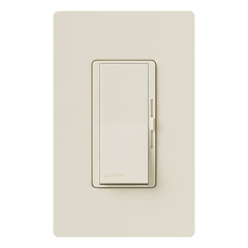 Lutron Diva C.L Dimmer Switch for Dimmable LED, Halogen and Incandescent Bulbs, with Wallplate, Single-Pole or 3-Way, DVWCL-153PH-LA, Light Almond