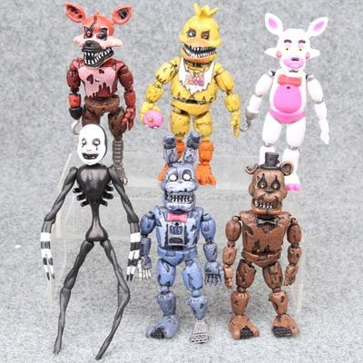 VIET FG Hot 4/5/6/8/10/12Pcs Five Nights at Freddy's Action Figure Set FNAF Foxy Bonnie Freddy Fazbear Sister Location Model Dolls FNAF]()