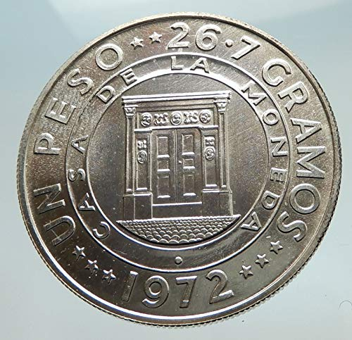 (1972 unknown 1972 DOMINICAN REPUBLIC Treasury Vault Building A coin Good Uncertified)