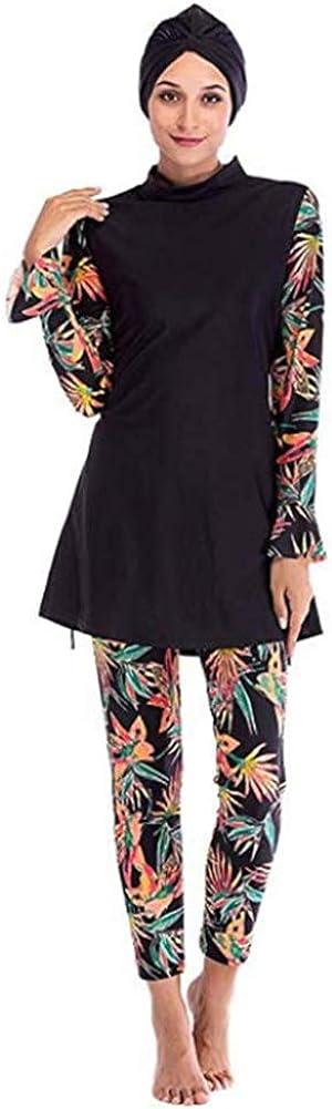 HAOFAN Islamic Swimming Hijab Swimwear Modest Swimwear Full Length Active Burkini Muslim Swimsuit