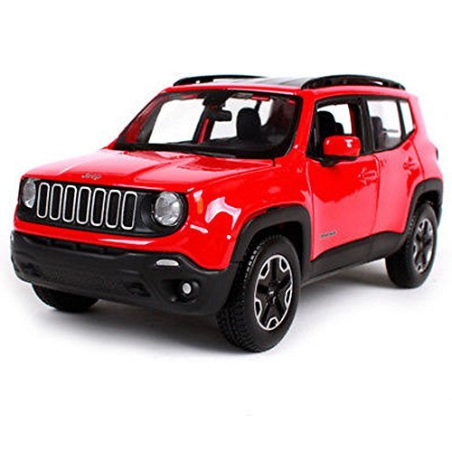 nokkoshop19 Maisto 1:24 2017 Jeep Renegade Red Diecast Model Car Toy New in Box