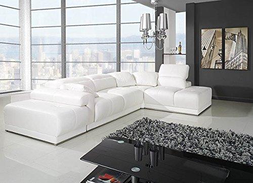 Ecksofa Monaco Programm 1 mit Bettfunktion + Hocker Eckcouch Sofa Couch