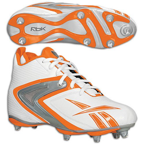 Reebok Herren NFL Ferocious D3 Fußballschuhe Weiß / Orange