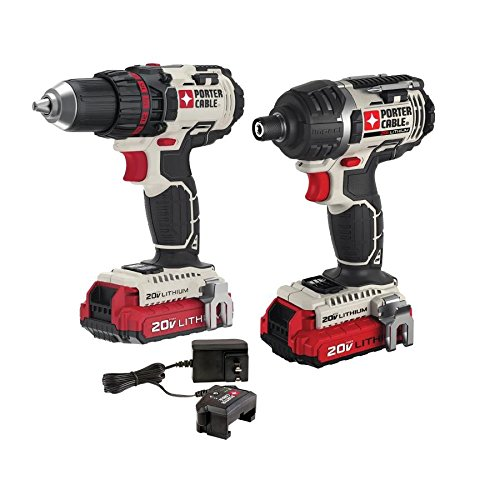 PORTER-CABLE 20V MAX Cordless Drill Combo Kit, 2-Tool (PCCK602L2) by PORTER-CABLE