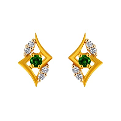 abef22e8c9567 PC Chandra Jewellers 14KT Yellow Gold Stud Earrings for Women