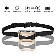 No Bark Collar Rechargeable Dog Barking Control Training Collar Beep / Vibration / Safe Shock with Digital Tube Display for Small Medium Large Dogs, Rainproof(Safe Shock Version)