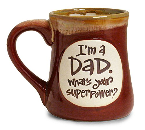 1 X I'm a Dad Superpower Burgundy 18 Oz Mug