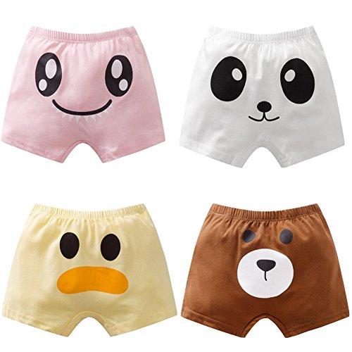 Womens Lucky Knicker - Luckystaryuan Lucky Staryuan 4Pack Children's Boys' Girls' Underwear Briefs (Girl, 3-4years)