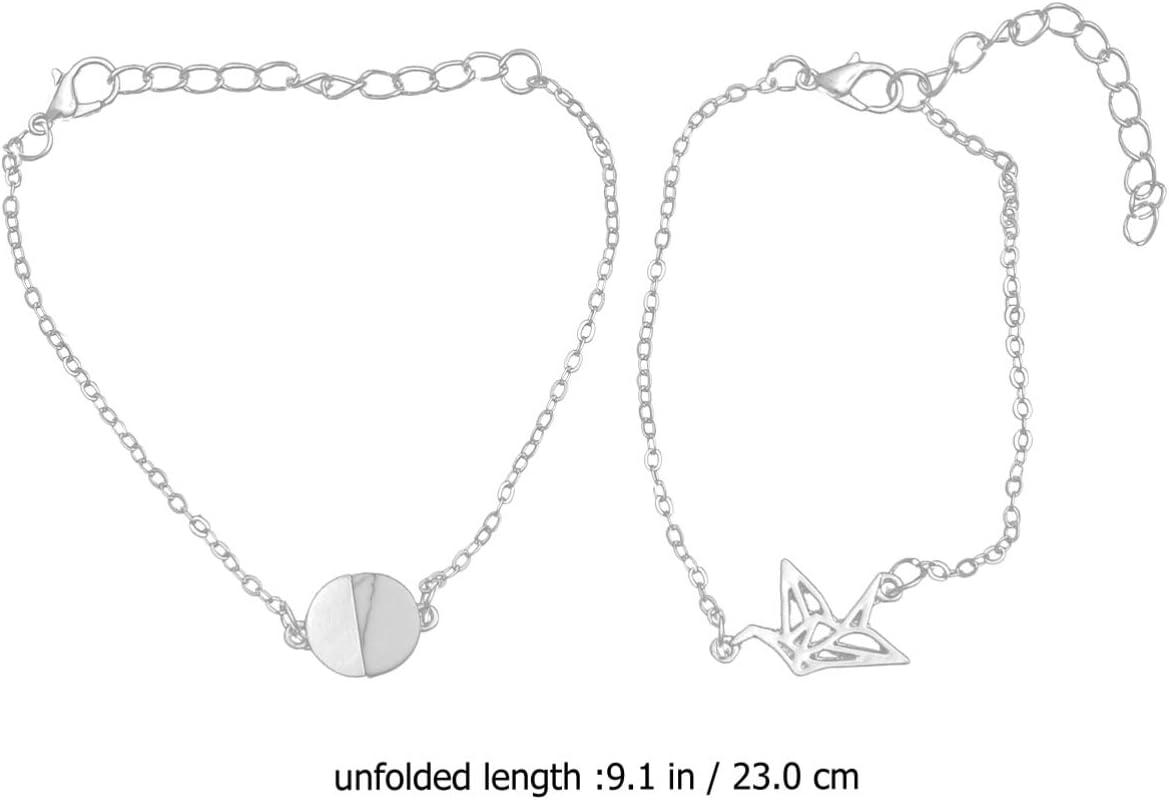 Happyyami 1 Paar Frieden Taube Armband Riss Stein Armband