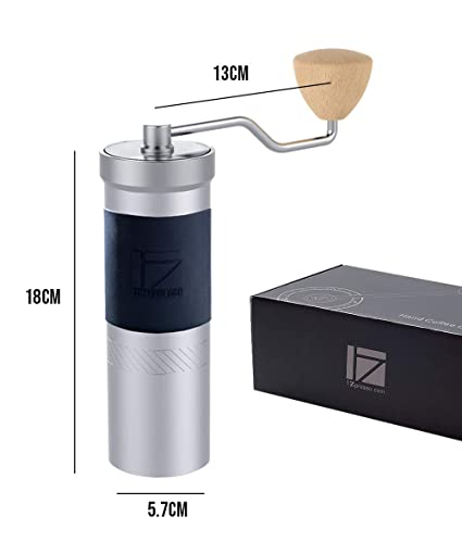 1zpresso Manual Coffee Grinder Jx Pro Series Light Gray 48mm Stainless Steel Burr Fine Upper Adjustment Nut Design Coffee Beans Ground Faster Grinding Efficiency Espresso To Coarse French Press Hand Grinder Handle Mill