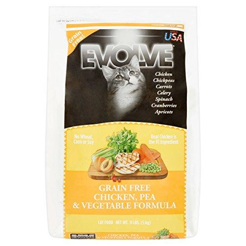 Evolve Grain Free Deboned Chicken, Pea & Vegetable Formula Cat Food, Large
