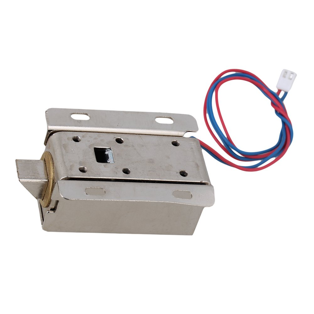 Mxfans 12V Cabinet Door Electric Lock Assembly Solenoid Lock Tongue Upward