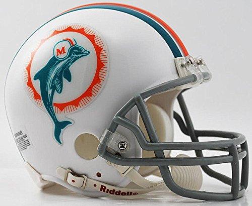 Riddell Miami Dolphins 1972 Mini Replica Throwback Helmet - Licensed NFL Memorabilia - Miami Dolphins Collectibles (1972 Throwback Mini Helmet Replica)