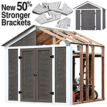 Amazon Com 2x4basics 90192mi Custom Shed Kit With Peak