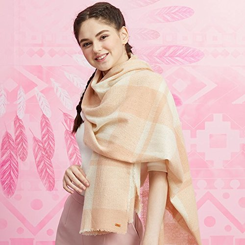 RENYZ.ZKHN Woman Winter Scarf Warm Pure Farbe Shawl Long Plaid Shawl 70  196Cm