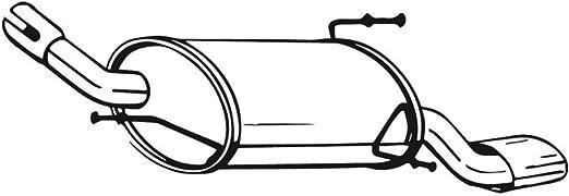Bosal 185 621 Endschalldämpfer Auto
