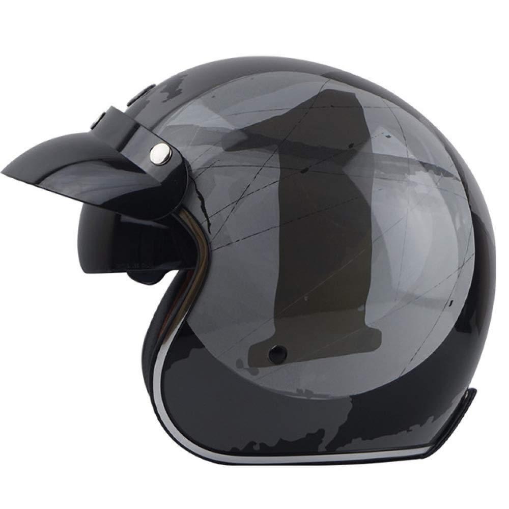 Amazon.es: Berrd Open Face Retro Motorcycle Casco de Moto No ...