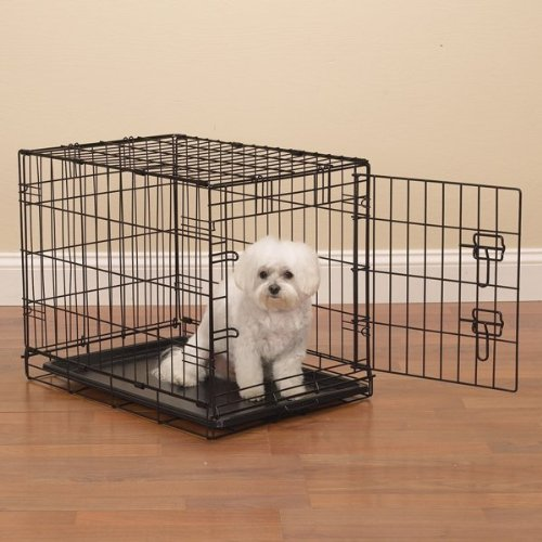 ProSelect Easy Dog Crates for Dogs and Pets - Black;Medium-Large
