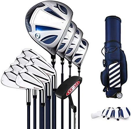 ゴルフコンプリートセット ゴルフクラブメンズ初心者のためのコンプリートセットゴルフセットチタン合金第1コンビネーションセットロッドカーボンシャフト クラブセット (色 : Silver, Size : 12)