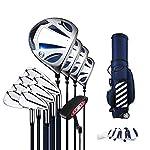 Zhengowen-Set-di-Mazze-da-Golf-Principianti-di-Golf-degli-Uomini-Club-Set-Completo-Set-Golf-Titanio-No-Lega-1-Combinazione-Set-Rod-Carbon-Shaft-Set-Mazze-da-Golf-Unisex-Colore-Silver-Size-12