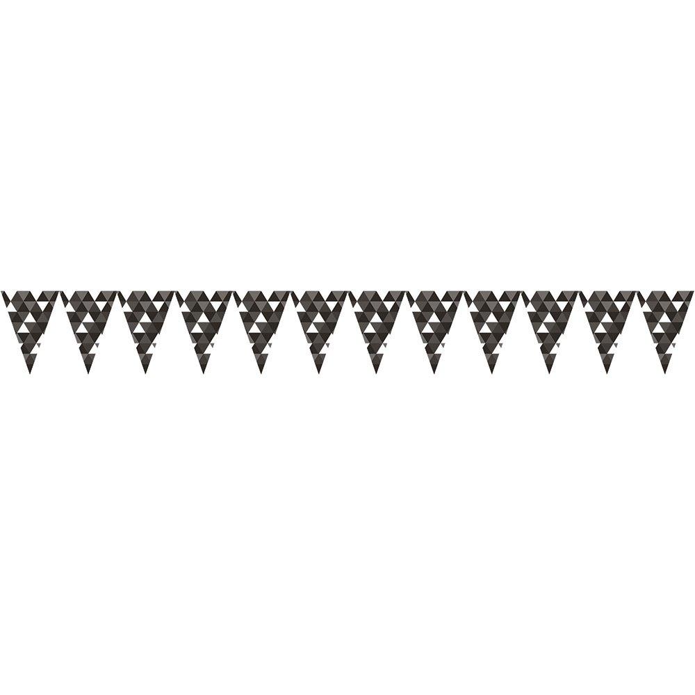 Creative Converting Flag Banner Party Decorations, Fractal Black Velvet (12-Count)  ブラックベルベット B06XZV4J7M