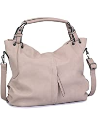 Handbags for Women WISHESGEM Large Capacity Ladies Hobo Purses Top Handle PU Leather Shoulder Bags