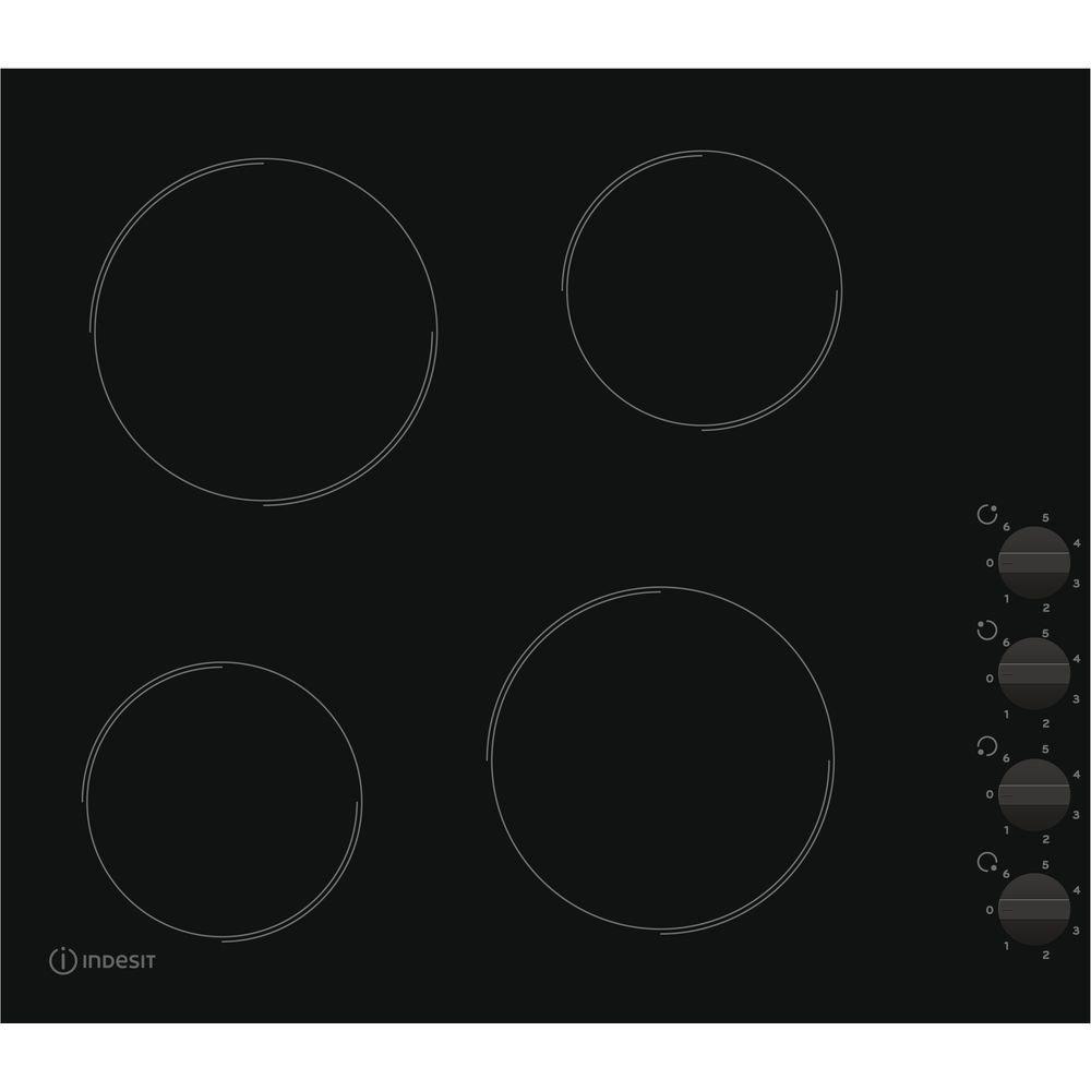 Indesit Ri 860°C built-in ceramic black–plate (Built-in, Ceramic, Glass and Ceramic, Black, Round, Round) RI860C