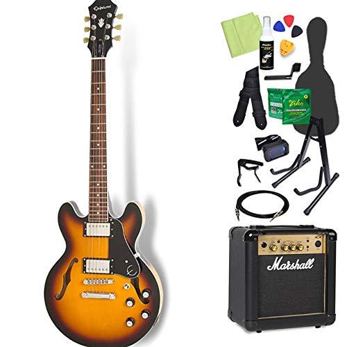 Epiphone ES-339 Pro Vintage Sunburst エレキギター 初心者14点セット【マーシャルアンプ付き】 セミアコ エピフォン   B07GJN4SVP
