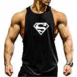 TECOFFER Men's BodyBuilding Tank Tops Superman S