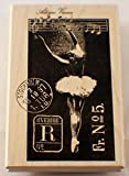 Stampington And Company Ballerina Swan Lake Postage Wood Rubber Stamp #K5503