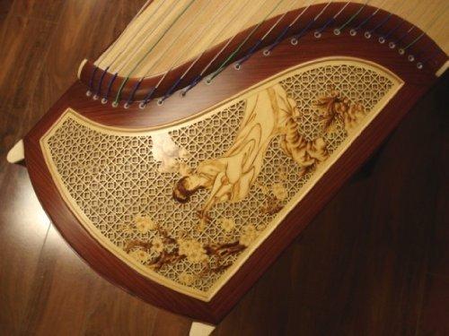 Tianyi Concert Burmese Rosewood Quartersawn Guzheng with Carving by Tianyi