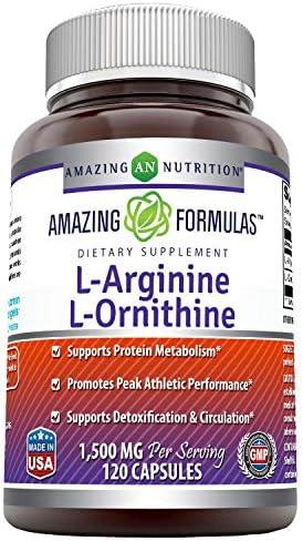 Amazing Formulas L Arginine L Ornithine Capsules product image