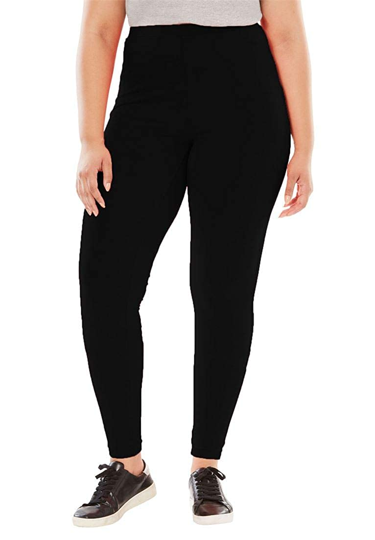 19148a3b47a Woman Within Plus Size Tall Stretch Cotton Legging at Amazon Women s  Clothing store