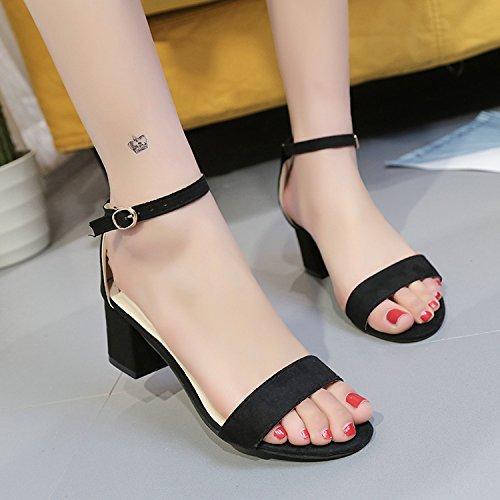 Xue Qiqi Tipp Schwarz Satin High Heels, und mit auf unebenem Boden mit und 100 Studenten mit einer einzelnen Schuhe Frauen integrieren. Schwarz 71c2ac