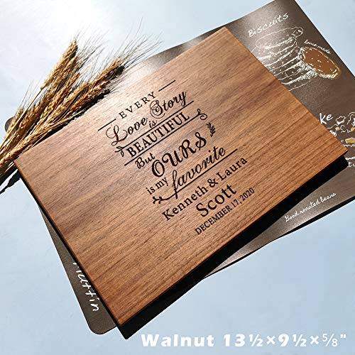 Gifts for Wedding or Anniversary, Personalized Wooden Cutting Board for Engagement, bridal shower, Present for Couple, Bride, Groom