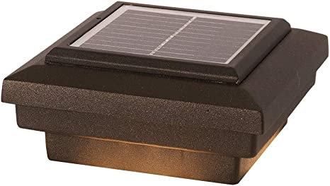 Amazon Com Dekor Savvy Solar Led Post Cap Lights For Decks Fences Docks Porches Low Voltage Outdoor Lighting Oil Rubbed Bronze 3 1 2 Little Rondi Home Improvement