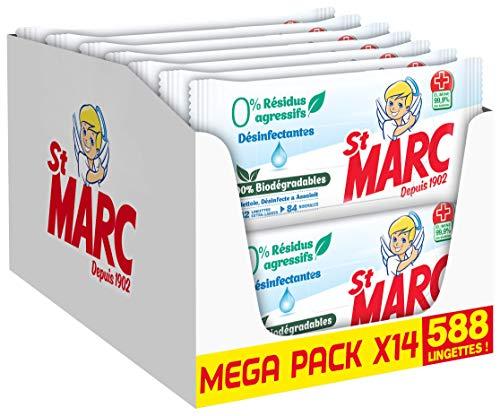 St Marc Reinigingsdoeken, biologisch afbreekbaar, 0% agressieve resten, desinfectiemiddel, 42 doeken x 14 stuks (588…
