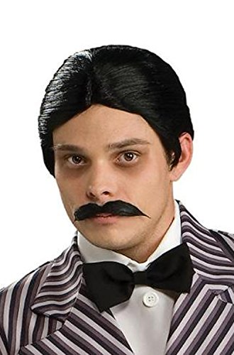[Rubie's Costume Co Men's The Addams Family Gomez Wig and Mustache Kit, Black, One Size] (20s Gangster Adult Costumes)