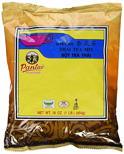 Thai Iced Tea Mix, Traditional Restaurant Style, 16 oz. (Pack of 2) (Best Thai Tea Mix)