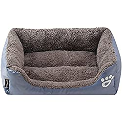 Washable Premium Dog and Cat Bed/Lounge With Ultra Soft Plush Sherpa & Thick Organic Cotton - A Puppy and Kitty DREAM BED
