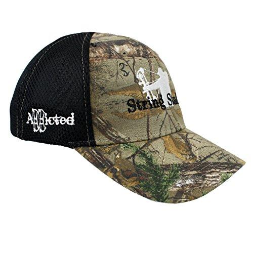 String Stalker Airmesh Flex Fit Hat - Realtree (Flex Fit Embroidered Visor)