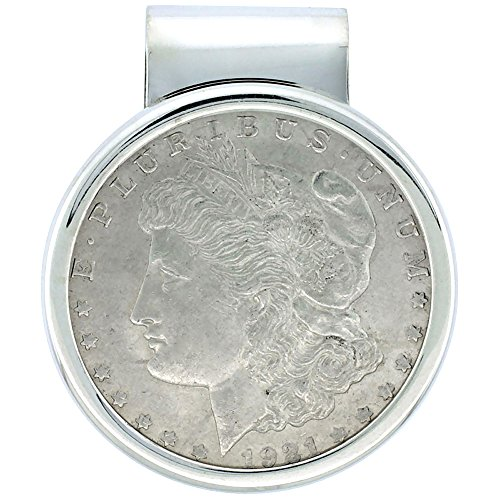 Sterling Silver Dollar Money Clip with Morgan Dollar Coin included ()
