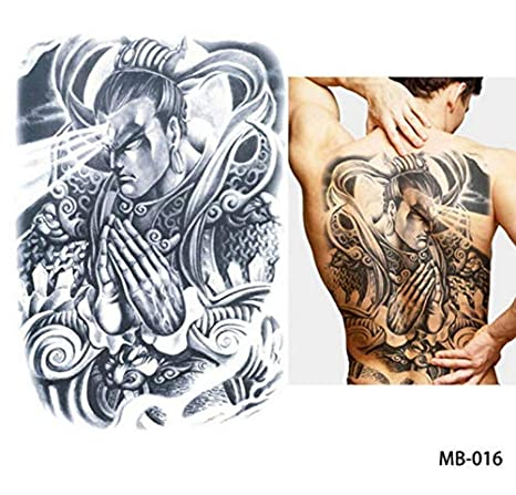 yyyDL Big Large Full Back Chest Tattoo pegatinas de tatuaje ...