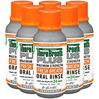 TheraBreath Plus Maximum-Strength Oral Rinse, 3 Ounce Bottle (Pack of 6)