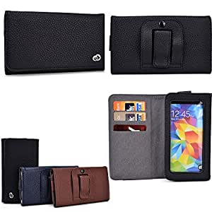 Allview P6 Quad/P5 Quad Universal Smartphone holder w/internal card slots, phone pocket with view window-Black