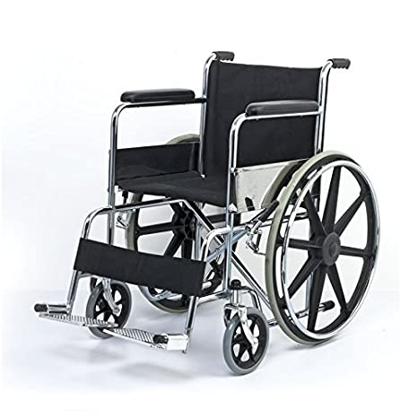 the latest 49988 57fdb Buy Chaithanya Orthopaedics Fc Foldable Self Drive Wheelchair (Black)  Online at Low Prices in India - Amazon.in