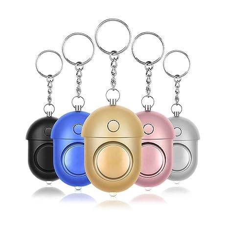 5 pcs-Alarma Personal,130DB Llavero de alarmas de Seguridad ...