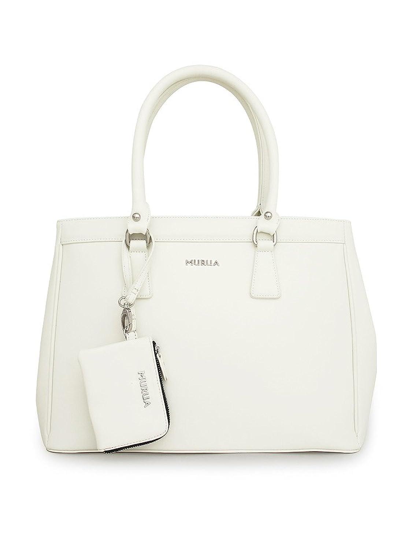 Amazon | (ムルーア) MURUA ハンドバッグ MR-B016 ホワイト | ハンドバッグ 通販