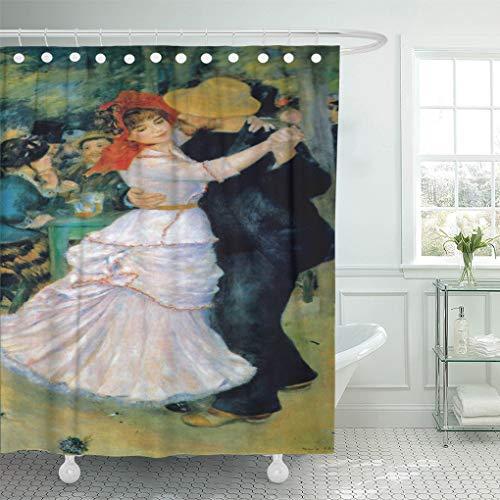 Renoir Dance At Bougival - Semtomn Shower Curtain Pierre Dance at Bougival Renoir Auguste Arts Impressionism Dancing 72